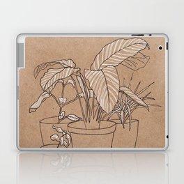 black and white house plants Laptop & iPad Skin