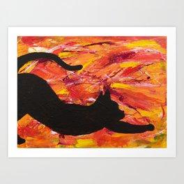 Cat Stretch Art Print