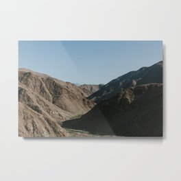 Mountain Valley at Sunrise Metal Print