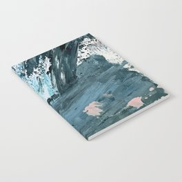 Wilmington: a colorful abstract acrylic piece in pinks and blues Notebook