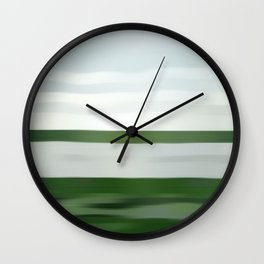 Society6 Most Expensive Home Art - Andreas - S6 - Gursky - Remix Art - PopArt Rhein II (1999) Wall Clock