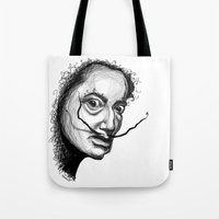 dali Tote Bags featuring Dali by Robin Ewers
