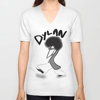 dylan V-neck T-shirts featuring Dylan by Colette