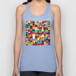 Abstract Geometric Mountains Unisex Tank Top