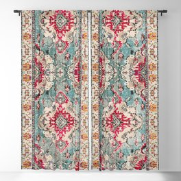 N132 - Heritage Oriental Traditional Vintage Moroccan Style Design Blackout Curtain