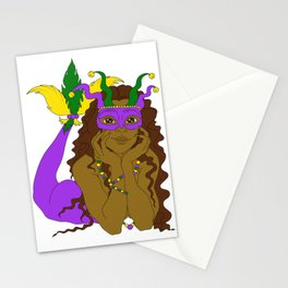 Mardi Gras Mermaid 2 Stationery Cards