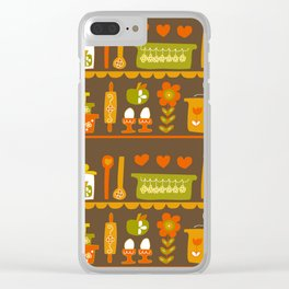 Lets Cook at Home Tonight Clear iPhone Case
