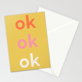 ok x 3 Stationery Cards