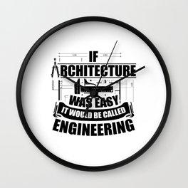 Architects Sayings | Job Study Architecture Gifts Wall Clock