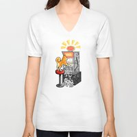 shiba V-neck T-shirts featuring Shiba Slots by  terrorbunnystudios