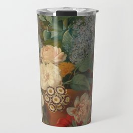 Flowers in a Terra Cotta Vase, Albertus Jonas Brandt and Eelke Jelles Eelkema Travel Mug