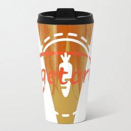 Vegetarian Monogram [Triangle] Travel Mug