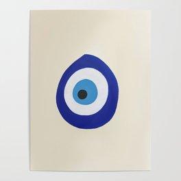 Blue Evil Eye Poster