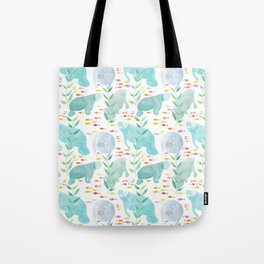 Lazy Manatees Tote Bag