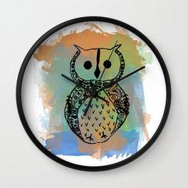 Paisley Owl Wall Clock