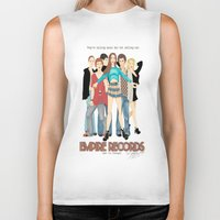 records Biker Tanks featuring Empire Records  by Maritza Lugo