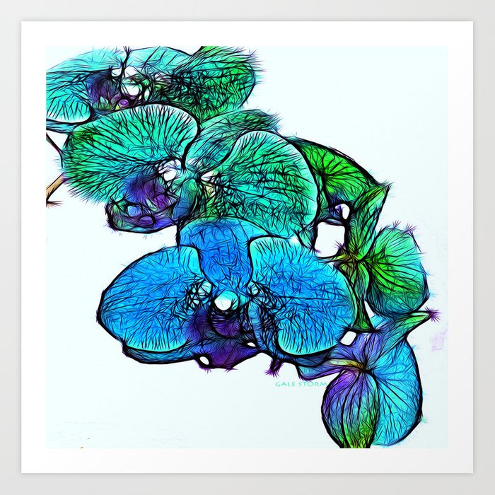 :: Orchids By The Sea :: Art Print