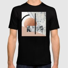 Collage II ( marble, copper, volcanic rock) Black MEDIUM Mens Fitted Tee