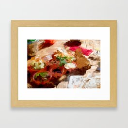 Breakfast for tourists in Groningen - Netherland Framed Art Print