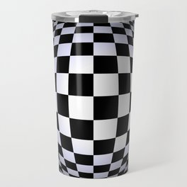 black-and-white -01- Travel Mug