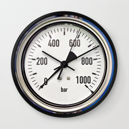 Industrial analog manometer Wall Clock