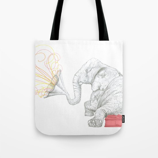 One Elephant Band Tote Bag