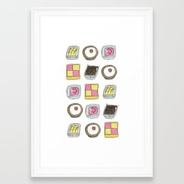 A TASTE OF CHILDHOOD: CAKES Framed Art Print