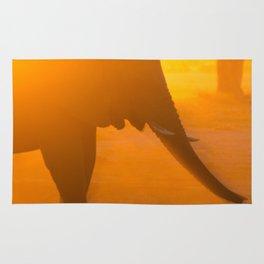 Elephant Silhouette Rug