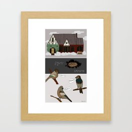 A Nest in the Ivy Framed Art Print