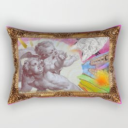 Angelo dell Gatto - Variations on the theme of the Italian Baroque Rectangular Pillow