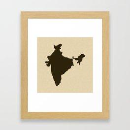 Chocolate Spice Moods India Framed Art Print
