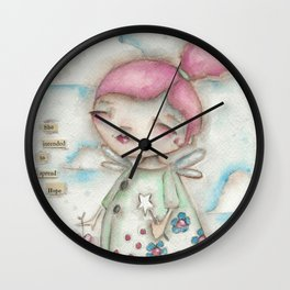 A Hope-Spreading Fairy Wall Clock