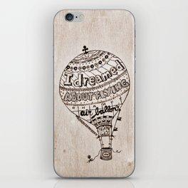 Hot Air Ballon iPhone Skin