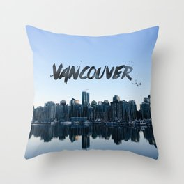 Vancouver land Throw Pillow