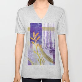 Blue Sky and Yellow Leaves Unisex V-Neck