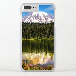 Mt. Rainier, Reflection Lake Clear iPhone Case