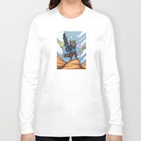 rocket raccoon Long Sleeve T-shirts featuring Rocket Raccoon and Baby Groot  by BlacksSideshow