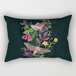 Hummingbird Moth Rectangular Pillow