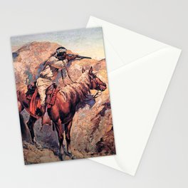 "Frederic Remington Western Art ""Apache Ambush"" Stationery Cards"