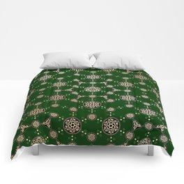 archaic pattern. crop circle. sacred geometry Comforters