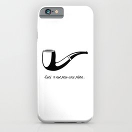 This Is Not A Pipe, Ceci n'est pas une pipe, Magritte Inspired T Shirt, Sketch, online T-shirt S iPhone Case