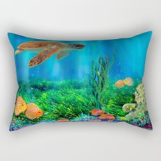 UnderSea with Turtle Rectangular Pillow