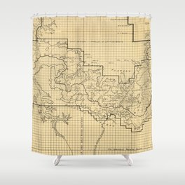 Vintage Map of The Grand Canyon (1908) Shower Curtain