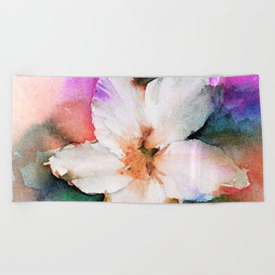 FLOWER PATTERN13 Beach Towel
