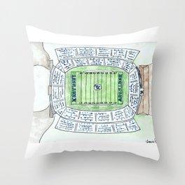 UK, Kentucky Wildcats, Football, Stadium, Lexington Throw Pillow
