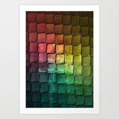 Rainbow grid Art Print