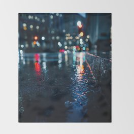 Cold City Lights Throw Blanket