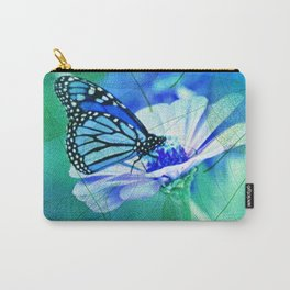 Butterfly, Flower And Leaves Carry-All Pouch
