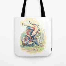Dragon encounter Tote Bag