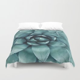 Aloe Green Agave Duvet Cover